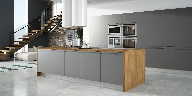 Cocinas con encimera de madera best cocina gris encimera - Encimeras de cocina de madera ...