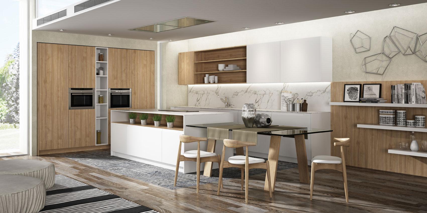 Cocina abierta dise o e instalaci n de cocinas idecocina for Disenos cocinas abiertas