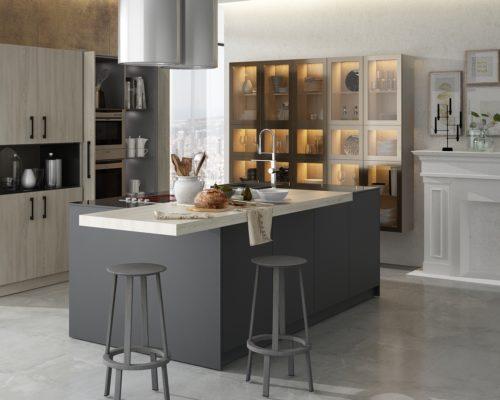 Retractable Doors Kitchen